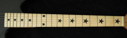 Stars BLACK Vinyl Inlay Star Decals for Fender Telecaster or Maple Neck GUITARS