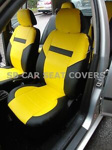 Fine Details About I To Fit A Citroen C1 Car S Covers Leatherette Black Yellow 59 99 Theyellowbook Wood Chair Design Ideas Theyellowbookinfo