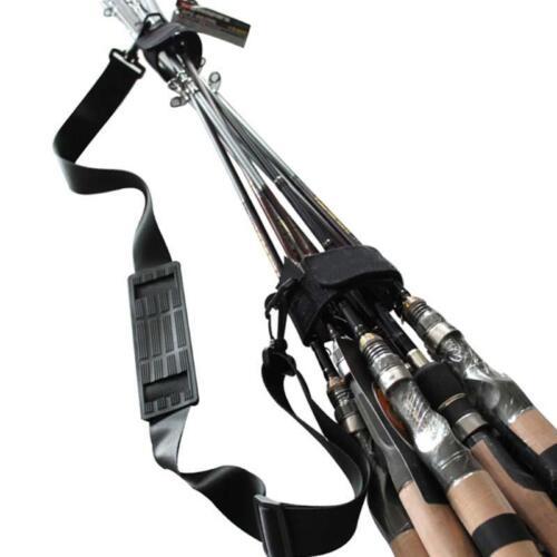 Fishing Rod Tackle Strap Anti Slip Adjustable Belt Shoulder Straps Holders New D
