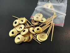 Round Brass Hand Washers and Pins for Antique Clocks set of 25 each
