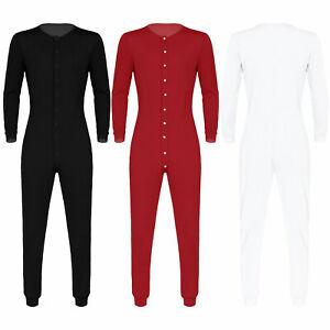 Combinaison Pyjama Homme Coton Sous-Vêtements Thermique Serré Long Tous dans Un