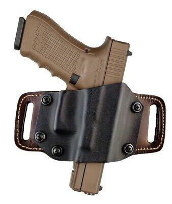 Bulldog MLTL Glock 17//19//21//22 Right Hand Tan Leather Handgun Belt Holster