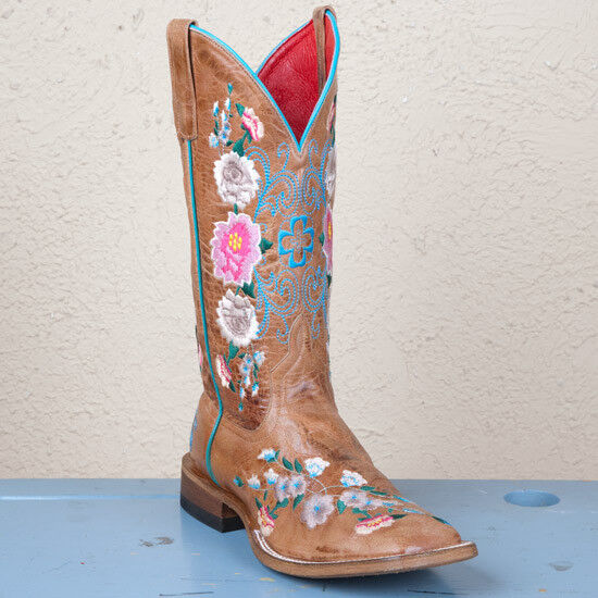 Macie Bean dedo del pie cuadrado cuadrado cuadrado Damas botas Floral De Miel  ofreciendo 100%