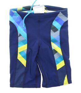 Speedo-Boy-039-s-Laser-Stripe-Splice-Competitive-Swimsuit-Trunk-Jammers-8051375