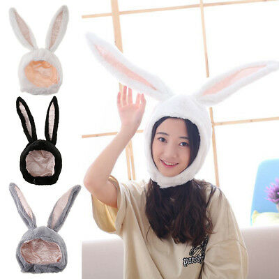 Rabbit Hat Fun Cartoon Bunny Adults Kids Plush Performance Props Costume Cap