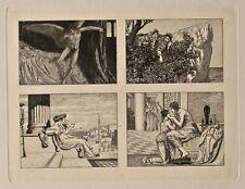 Max Klinger - Amor und Psyche, 4 Vignetten aus: Opus V,Bl. 22 - Radierung - 1880