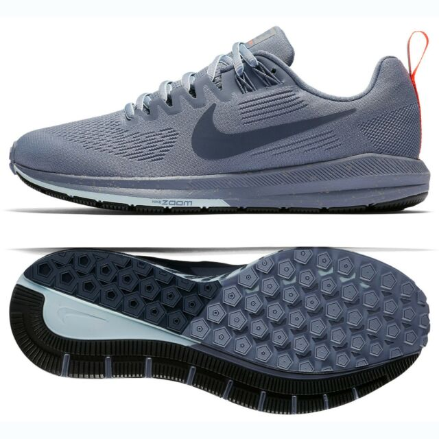 Nike W Air Zoom Structure 21 Shield 907323-400 Dark Sky Blue Women Running  Shoes 91b74f2f5