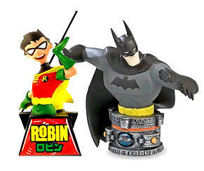 DC COMICS Batman & Robin bust statue figures RRP   Resin not Plastic