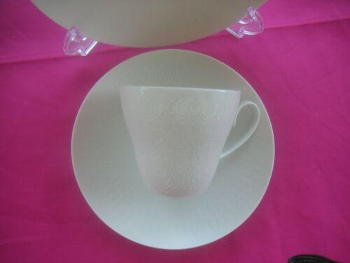 """Exzellente Erhaltung ROSENTHAL /""""ROMANZE/"""" in weiß 3-tlg 6 x da! Kaffeegedeck"""