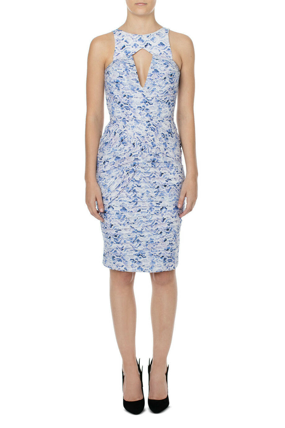 NEW Aje Windsor Pencil Dress blueebell Print Size 6 RRP