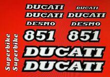 DUCATI 851 MODEL  PAINTWORK DECAL KIT