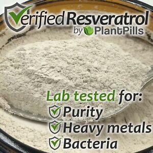 Plantpills Micronized Trans Resveratrol Powder 99 Pure Cas 501