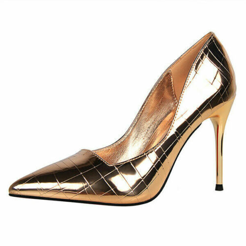 Women Pointy Toe Stiletto Night-Club Pumps High Heels Patent Leather Party Shoes