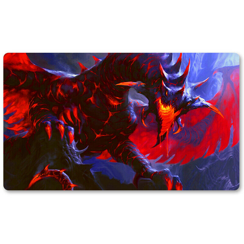 Moltensteel Dragon - Board Game MTG Playmat Games Mouse