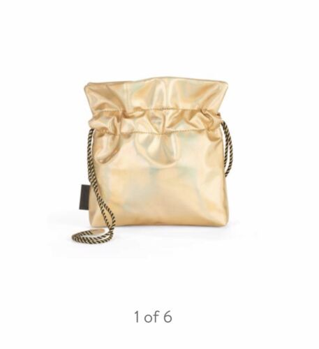 Small Bag With Handle Kendall Kylie Gold Faux Leather Small Pouch Crossbody