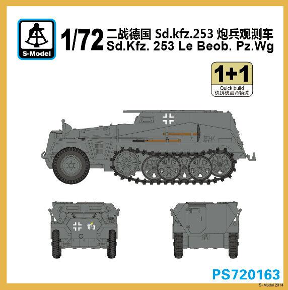S-model 1/72 PS720163 Sd.kfz.253 Le Beob.Pz.wg (1+1)