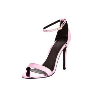 Strap Rose Stiletto Size By Ankle Bnwob1 Details About Gold Bella 7 V Heels Very Sandal XZuOkiPwT