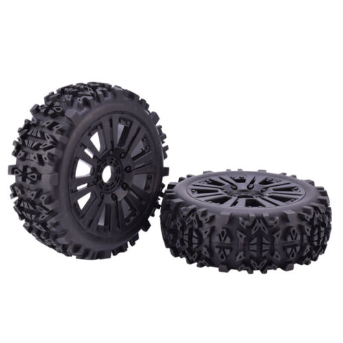 2pcs ZD Racing 120mm Wheels Tires/&17mm HEX for 1//8 Off-road Car Buggy Redcat
