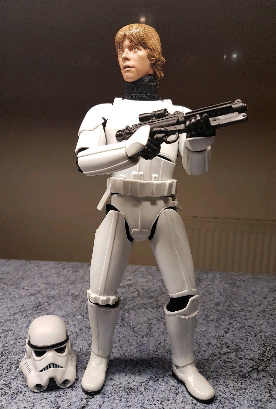 Escala 1 6 de Estrella Wars Luke Skywalker Con Stormtrooper Outfit Personalizado 12  Figura