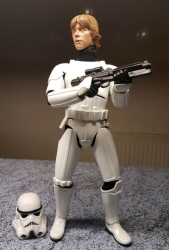 Star Wars Luke Skywalker à l'échelle 1/6 avec tenue Stormtrooper Figure personnalisée de 12 po   Figure