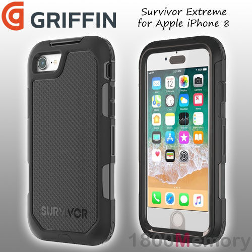 various colors 2ff12 b3b1d Griffin Survivor Extreme for iPhone 8 Series - Black/tint