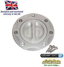 Oberon Performance Kawasaki Fuel/Gas/Race Cap Kit #FUE-0407-SILVER-SILVER