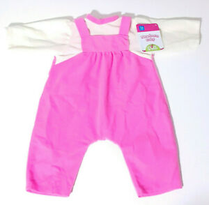 Kmart-Newborn-Baby-Dolls-Clothing-Pink-Overalls-White-Shirt-56cm-Tall