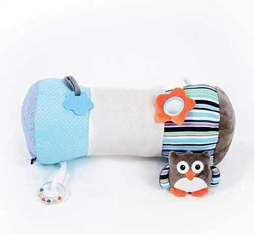 White /& Grey Blue Nuby Tummy Time Pillow