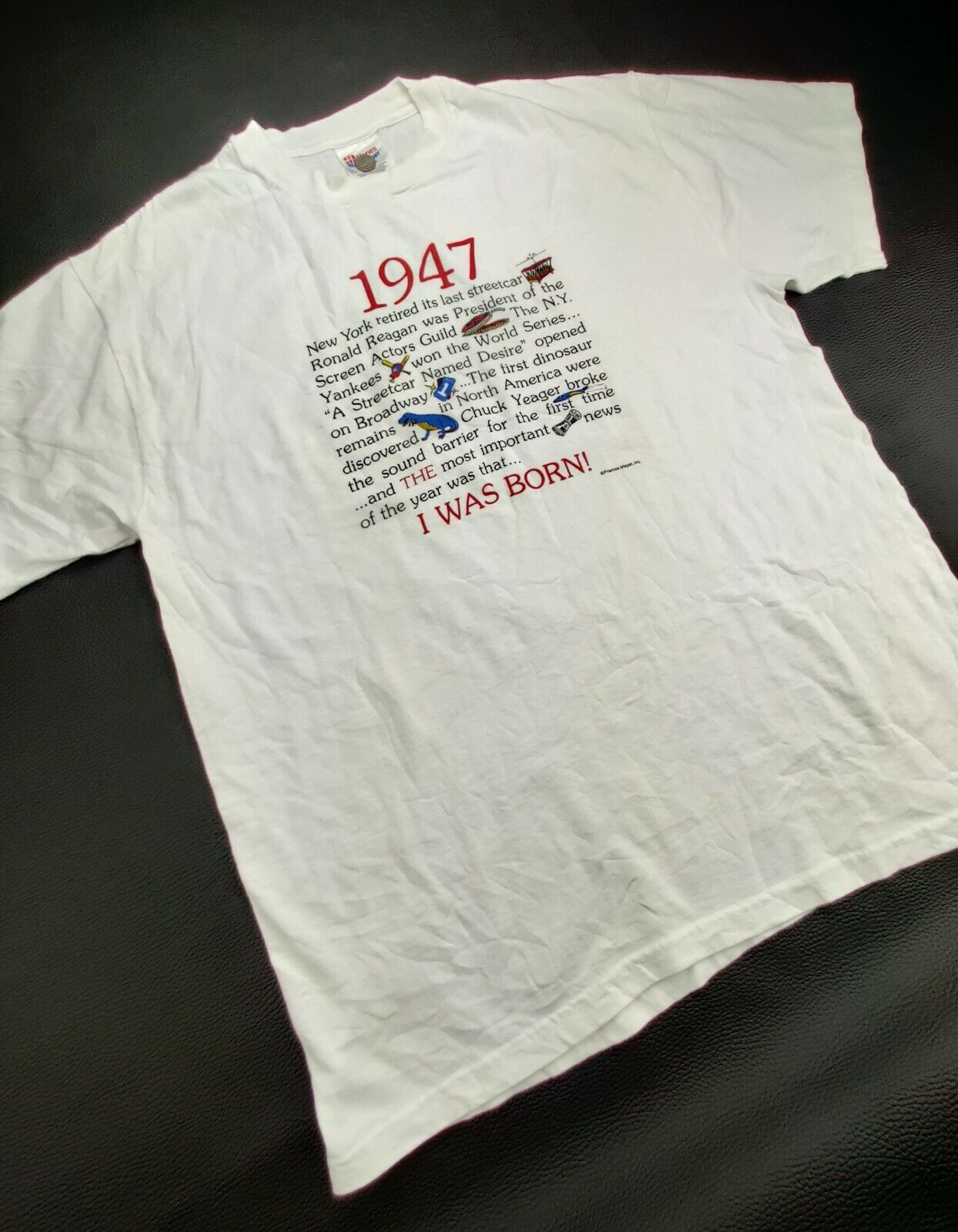 """Hanes Heavy Weight """"Vtg"""" Men's Large """"I Was Born … - image 4"""