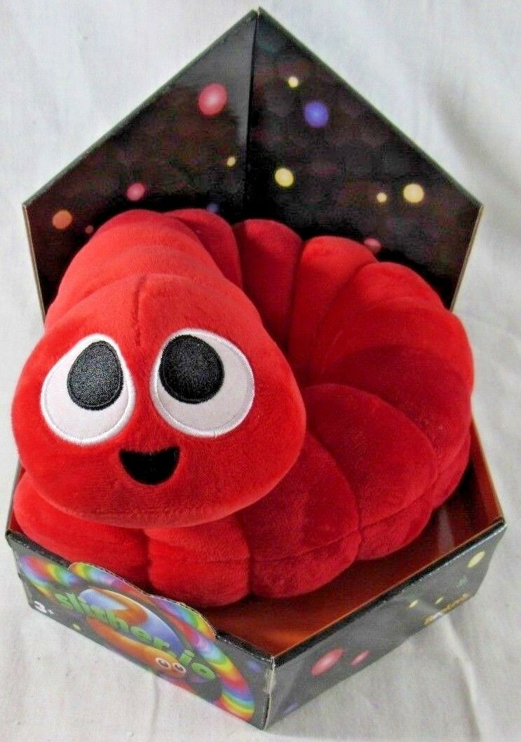 """NEW Red Slither.io 24"""" Bendable Plush Series 1 New in Retail Box Slitherio"""