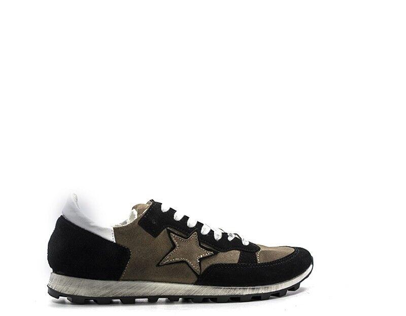 zapatos NEVER THE LESS hombres zapatillas trendy  marrón Pelle naturale,Scamosciato M