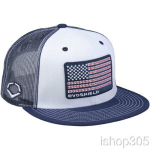 new product d38b4 f77ee Image is loading Evoshield-US-Flag-Patch-Snapback-Hat-Baseball-Cap-