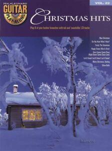 Capable Prix De Vente Conseillé 12.95 Christmas Hits Guitar Play-along Volume 22 Tab Music Book/cd-afficher Le Titre D'origine