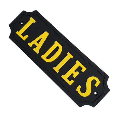 PVC Rubber Door Sign Wall Plaque Notice for LADIES Toilet Bathroom Restroom
