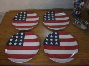 Set Of 4 Pottery Barn Kids 4th Fourth July Stars Amp Stripes