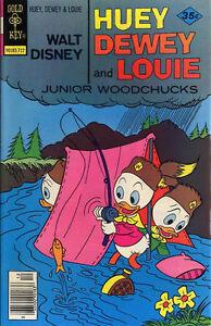 HUEY-DEWEY-AND-LOUIE-JUNIOR-WOODCHUCKS-47-Fine-b-c-spot-Gold-Key-Comics-1977