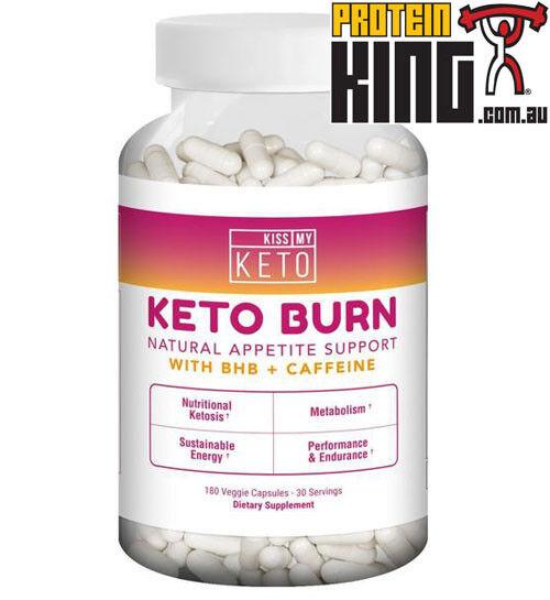 Kiss My Keto quemar 180 cápsulas natural del apetito Soporte con Bhb + Cafeína EnergíA