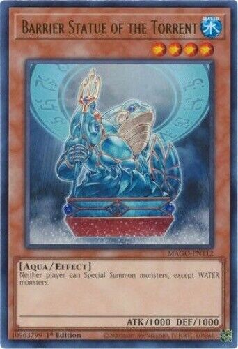MAGO-EN112 - Rare 1st Edition 3 x Barrier Statue of the Torrent
