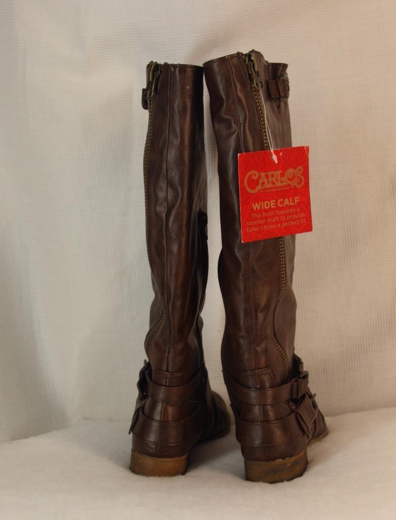 Carlos by Carlos Santana Stiefel Stiefel Stiefel Größe 6.5 Wide Calf Braun Tall Shaft Hanna Damenschuhe. 10ef8c