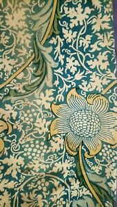 Antiques Independent William Morris & Co Curtains Ca 1900 W/ Label Arts And Crafts Design Victorian Periods & Styles