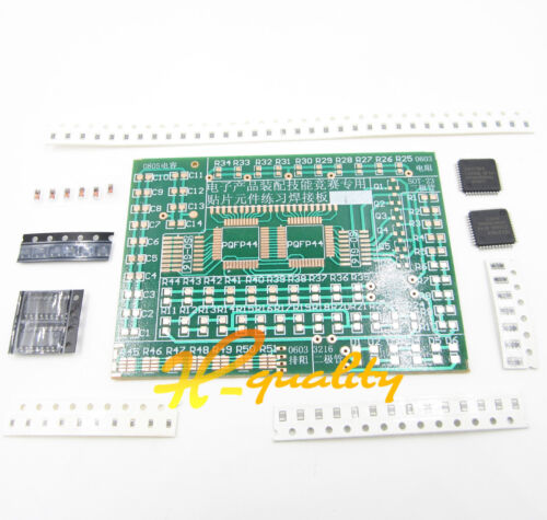 UK SMD Components Solder Practice Plate for Training DIY Module Electronic Kit