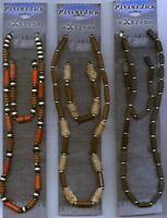 """15 """"panama Jack Extreme"""" Hemp, Wood, Leather Necklace & Bracelet Sets"""