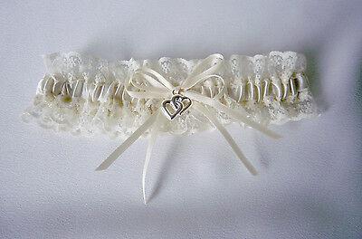 WEDDING GARTER  -  IVORY/CREAM/LACE - S, M, OR L
