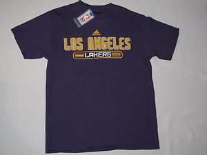 the best attitude 78a7b c5acd Image is loading NWT-ADIDAS-NBA-LOS-ANGELES-LAKERS-T-shirt-