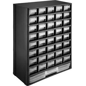 Kleinteilemagazin-mit-41-Faechern-Schubladen-Sortimentsboxen-Sortimentskasten