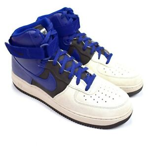 reputable site fcfd2 bfd55 Details about Nike Air Force 1 High 07 LV8 Platinum Gray Royal Blue Mens  Sneakers DS AUTHENTIC