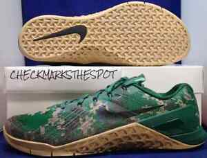 Nike Metcon 3 Digi Camo Green Black Gum Brown CrossFit SZ 11 ( 852928-008 )