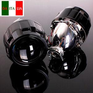 2x-2-5-039-039-Fari-H1-H4-H7-LHD-Xeno-Bi-Xenon-Lenticolare-Proiettore-Lampadina-It