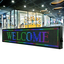 40x8 Inch Led Sign Outdoor Scroll Message Board 7 Color Programmable Scrolling