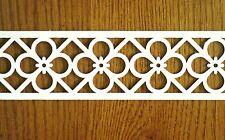"12 pcs Wood Fretwork Applique Trim 24"" long x 2 5/16"" Crafts Woodworking Hobby"
